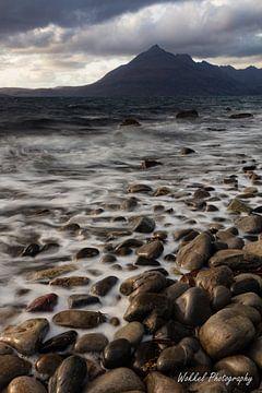 Kiezels op het strand van