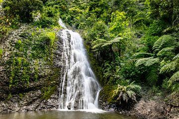 Waterval in Nieuw-Zeeland van Valerie Tintel
