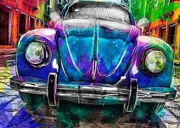 Artistieke Volkswagen Kever van AL Art