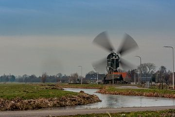Malende molen 'Bonrepas' van Stephan Neven