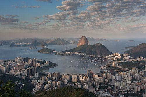 Rio de Janeiro 4er Bilder auf auf Leinwand Wandbild Poster Kunstdruck Zuckerhut