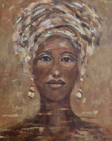 Afrikanische Frau Cognac von Mieke Daenen