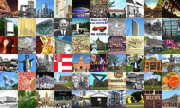 Alles aus Eindhoven - Collage aus typischen Bildern der Stadt und der Geschichte von Roger VDB