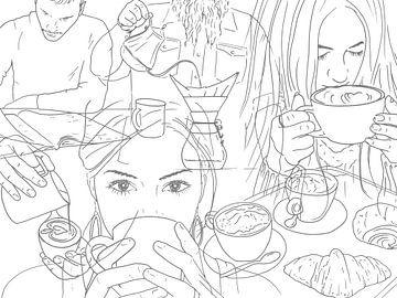 De liefhebbers van koffie van Natalie Bruns