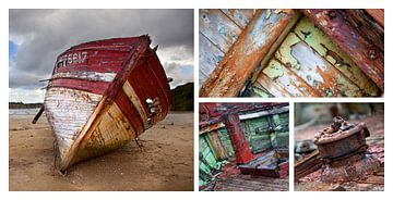 Oude vissersboot, Bretagne van Gerard Burgstede