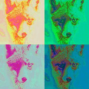 Vier artistieke vossen von