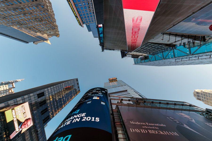 Wolkenkratzer am Times Square van Kurt Krause