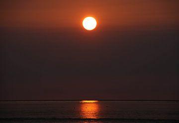 Zonsondergang van Jasmijn Visser