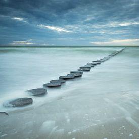 Buhnen in de zee van Tobias Luxberg