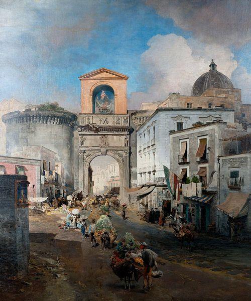 Oswald Achenbach.Auf dem Weg zum Markt von 1000 Schilderijen