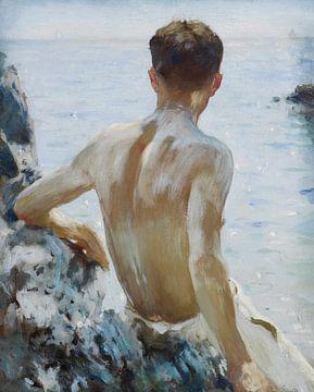 Étude sur la plage, Henry Scott Tuke