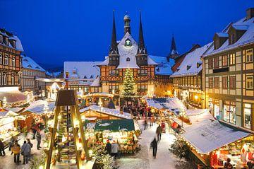 Weihnachtsmarkt in Wernigerode von Peter Eckert