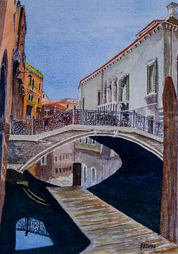 Perdu à Venise | Aquarelle sur Watercolor Wall