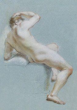 Sitzender nackter Mann von Atelier Liesjes