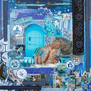 Cultuurmix in blauw van Cora Westerink