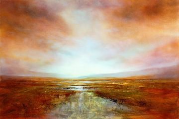 Weids kustlandschap van Annette Schmucker