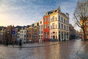 Sonnenaufgang Oudegracht - Utrecht von Thomas van Galen