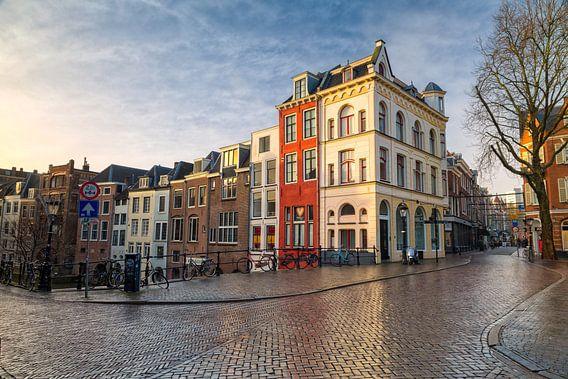 Zonsopkomst Oudegracht - Utrecht