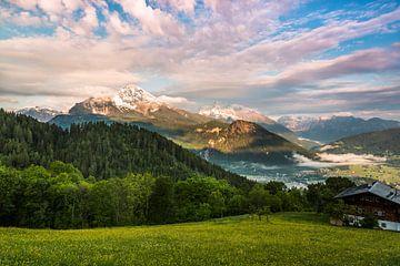 Uitzicht in het Berchtesgadener Land van Daniela Beyer