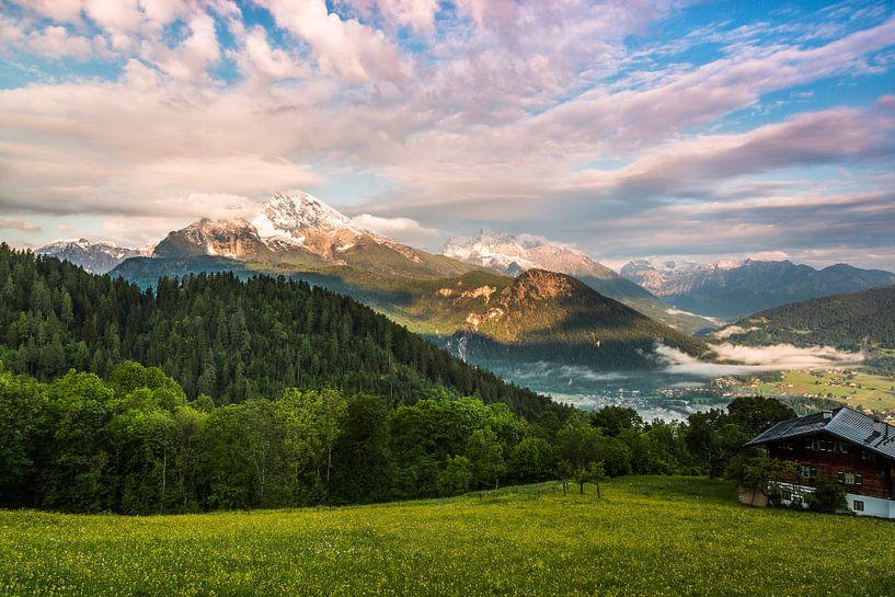 Blick ins Berchtesgadener Land van Daniela Beyer