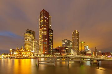 Rotterdam bij night van René Groeneveld