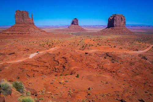 Klassiek plaatje van Monument Valley, Arizona, VS