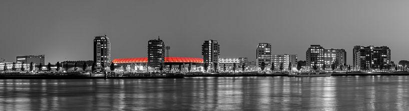 Panorama van De Kuip en de Veranda te Rotterdam van Anton de Zeeuw