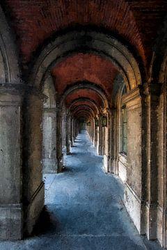 Het binnenhof Den Haag van Digitale Schilderijen