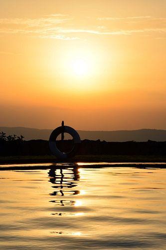 Zonsondergang Ngorogorokrater Afrika van