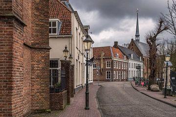 Vue de la chapelle St Aegten à Amersfoort depuis le Westsingel sur Anges van der Logt