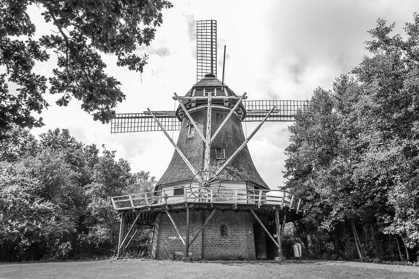 Korenmolen de Berk Barger-Compascuum van Martin Albers Photography