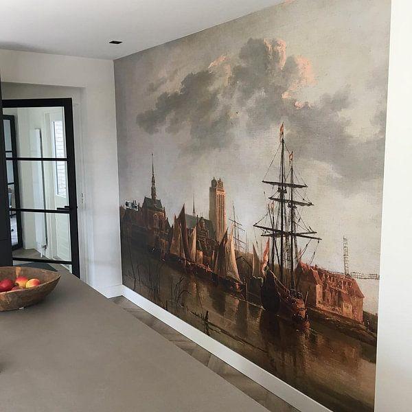 Photo de nos clients: Gezicht op Dordrecht bij zonsondergang, Aelbert Cuyp sur Meesterlijcke Meesters