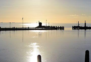 Hafen Volendam, Sonnenaufgang von Annemarie Kroon