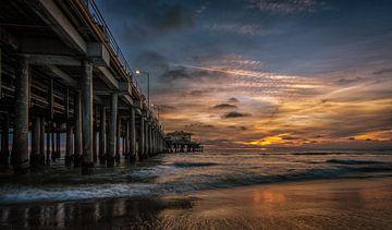Santa Monica Zonsondergang van Mario Calma