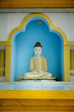 klein beeld in tempel India van Karel Ham