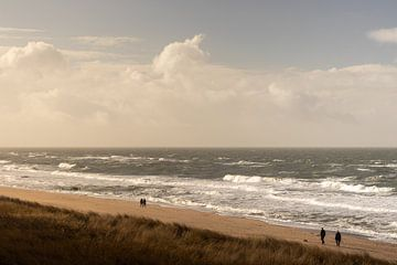 Het strand van Sylt, Duitsland. van