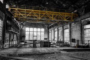 De grote fabriek (zwart-wit)