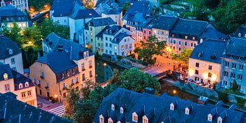 Grund wijk in de benedenstad van Luxemburg van Werner Dieterich