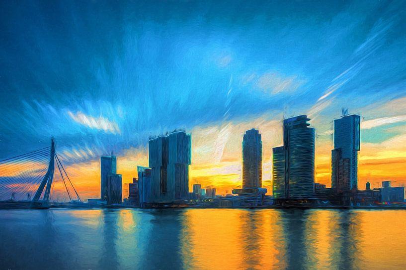 Art with cityscape of Rotterdam van eric van der eijk