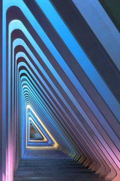 Blauwe driehoeken in Luik sur Dennis van de Water