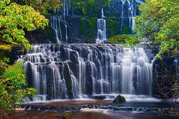 Purakaunui-watervallen van Henk Meijer Photography