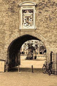Innere Stadt von Den Haag Niederlande Sepia