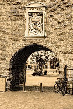 Binnenstad van Den Haag Nederland Sepia van Hendrik-Jan Kornelis