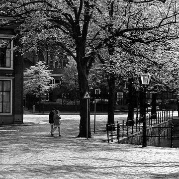 Dordrecht achter de Grote Kerk sur Dordrecht van Vroeger