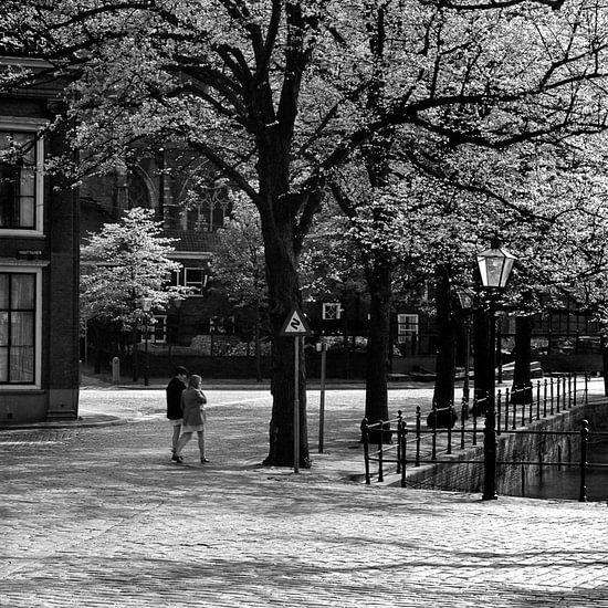 Dordrecht achter de Grote Kerk van Dordrecht van Vroeger