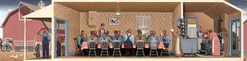 Grant Wood, Diner voor de Threshers, 1934 van Atelier Liesjes