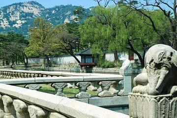 Gyeongbukgung paleis in Seoel, Zuid-Korea van Coco Everts