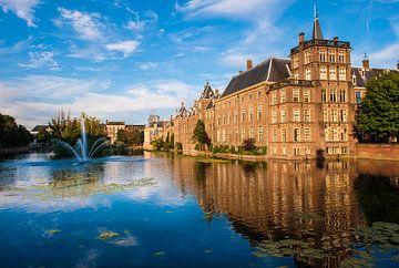 Binnenhof Den Haag over de vijver van Brian Morgan