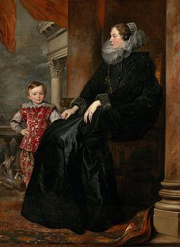 Genuesische Adelige und ihr Sohn, Antoon van Dyck