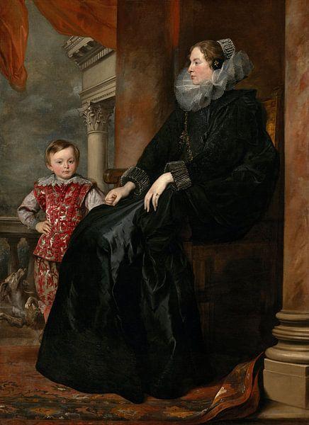Genuesische Adelige und ihr Sohn, Antoon van Dyck von Meesterlijcke Meesters